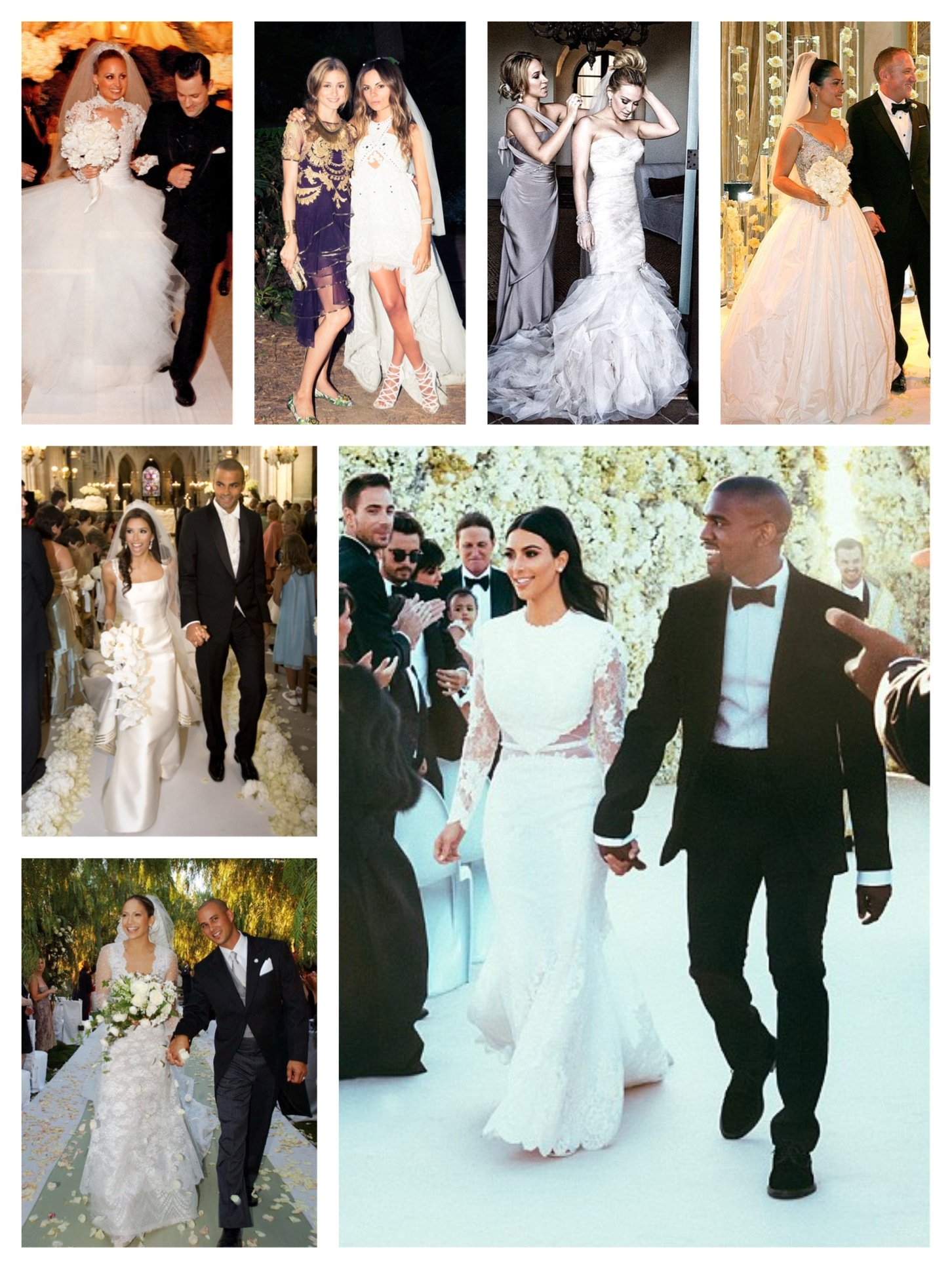 Petite celebrity wedding dresses