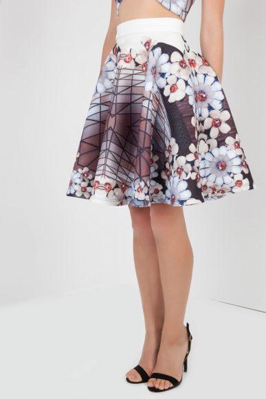 PETITE Liza Cherry Blossom skirt by Petriiski :: BombPetite.com