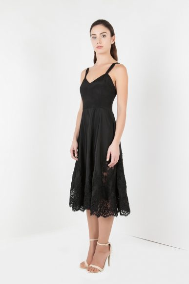 PETITE Nina dress in black by Vjera Vilicnik :: BombPetite.com