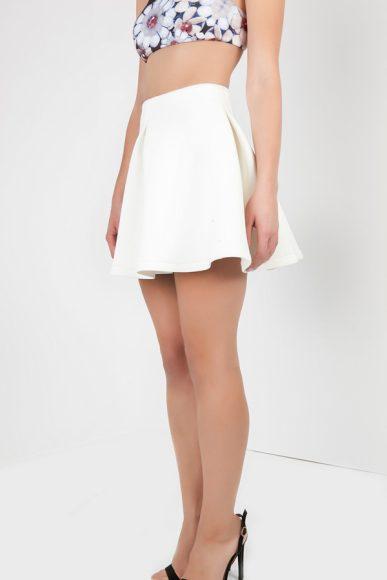 PETITE white A-line mini skirt by Petriiski :: BombPetite.com