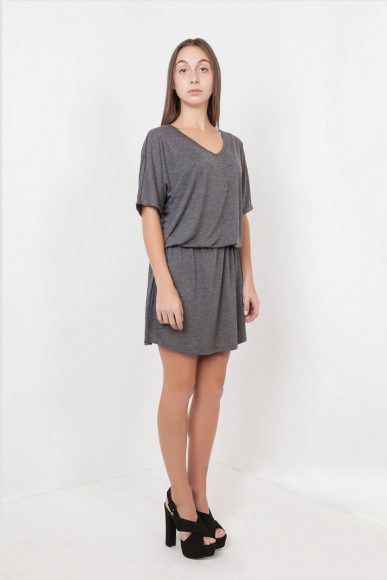 Petite Shoujou Dress in Grey by Narrow Arrow :: BombPetite.com