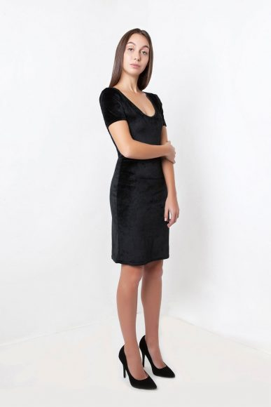 Petite Takai Dress in Black by Narrow Arrow :: BombPetite.com