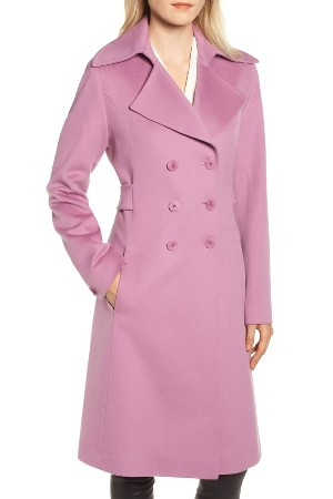 Petite pink coat for winter 2018