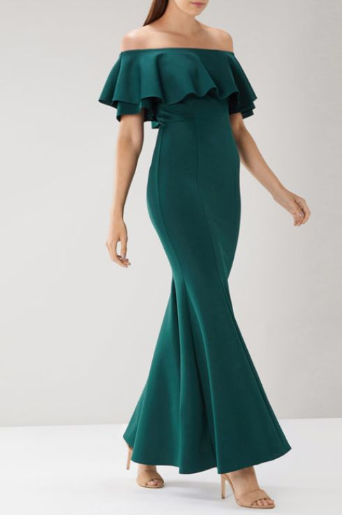 green bardot petite maxi dress from Coast