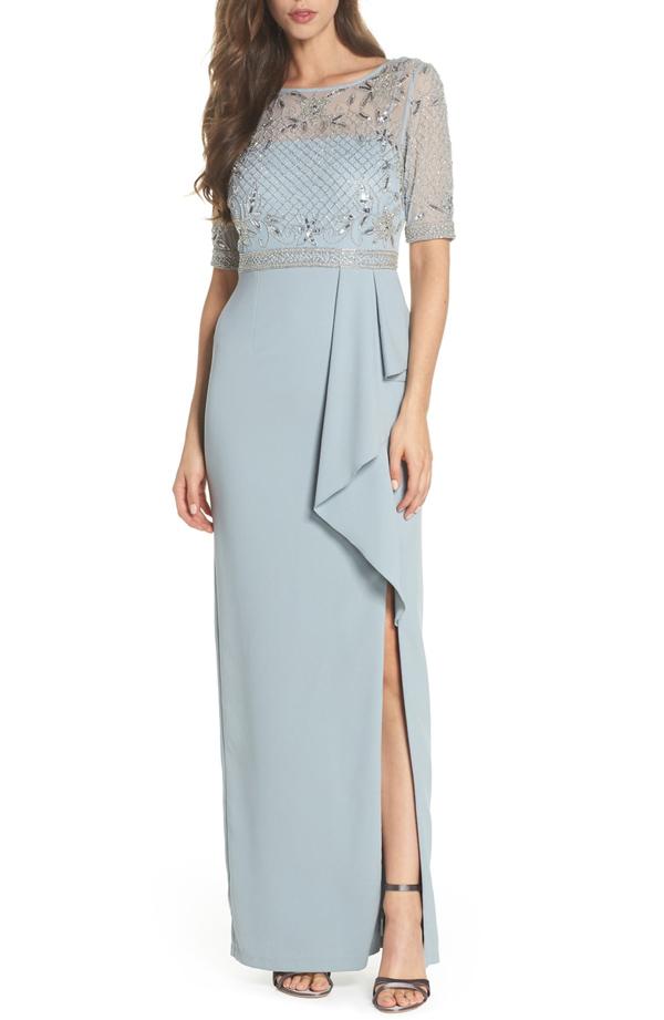 Petite-Beaded-Gown-ADRIANNA-PAPELL :: BombPetite.com