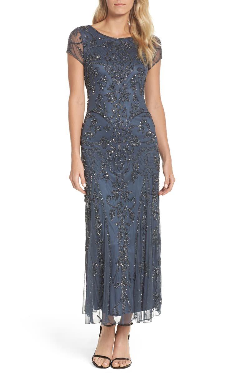 pisarro-nights-embellished-mesh-gown-petite